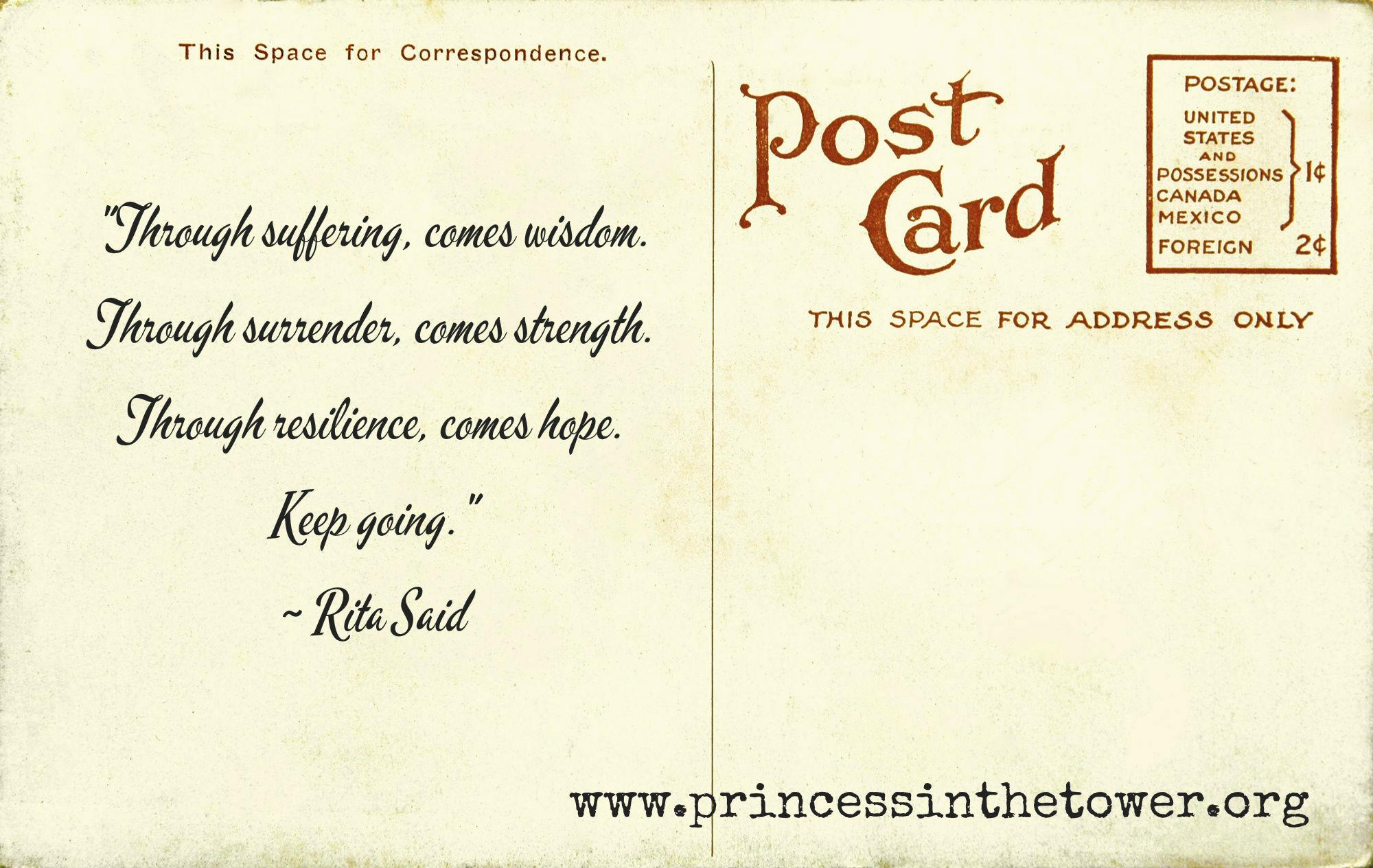 Postcard quote
