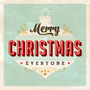 Vintage Christmas Card - Vector EPS10. Grunge effects can be eas