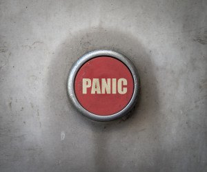 Retro Red Industrial Panic Button
