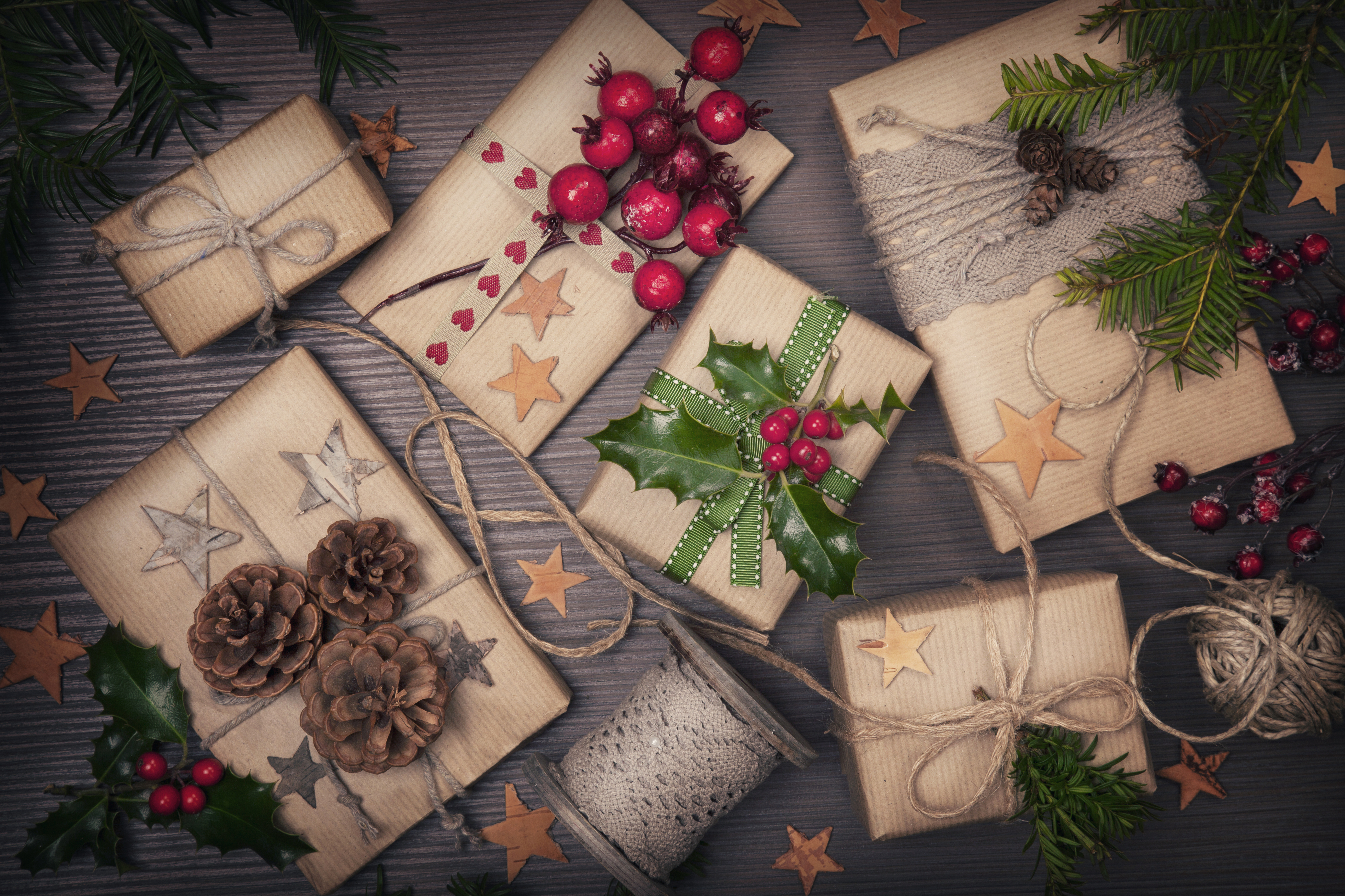 Christmas Vintage Present Background