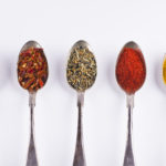 Ingredients Spices 3 In Spoons Isolated On White Background